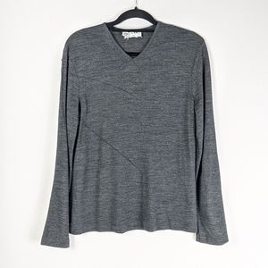 Paul & Joe Long Sleeve Pullover Gray Size Medium